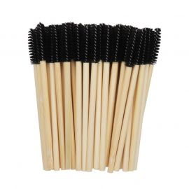 50 mascara brushes with bamboo handles