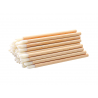 50 bamboo lip brush handle lint free swabs with bamboo handle