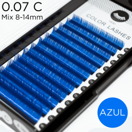 0.07 C-curvature blue lashes