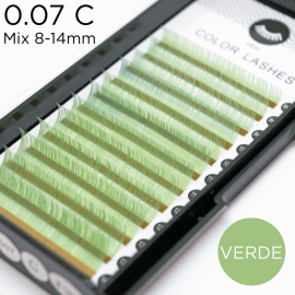 0.07 C-curvature green lashes