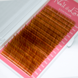 Pestañas de colores Candy Lash 0.07 C-curvatuda MIX de 8-15mm Gama Marron
